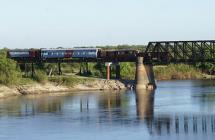 Puentes-Río-Gualeguay,-Rosario-del-Tala